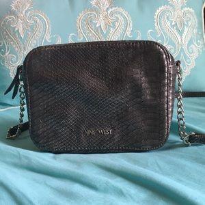 Nine West Metallic Charcoal Crossbody Bag